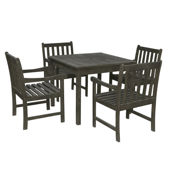 Manchester 5 Piece Patio Dining Set by Sol 72 Outdoor