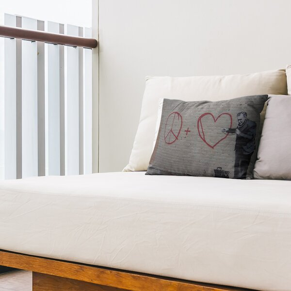 Peaceful Hearts Doctor Indoor / Outdoor Geometric 14 Lumbar Pillow