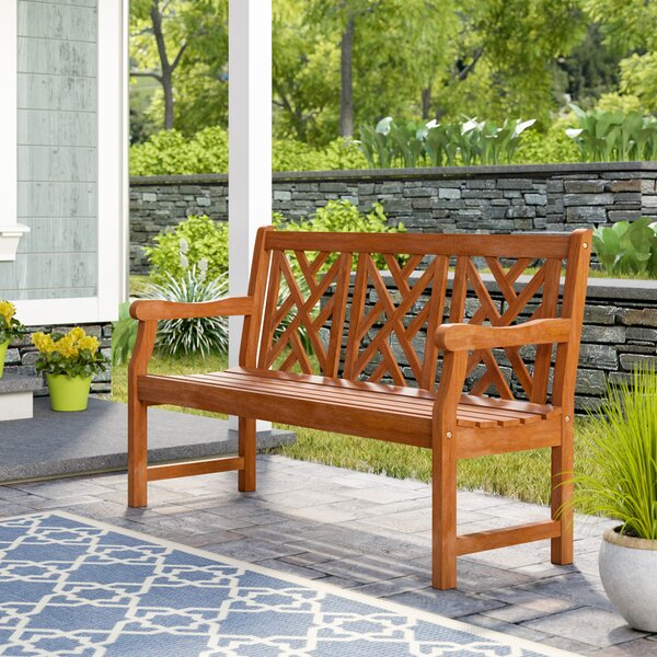 Demond Outdoor Eucalyptus Garden Bench by Beachcrest Home
