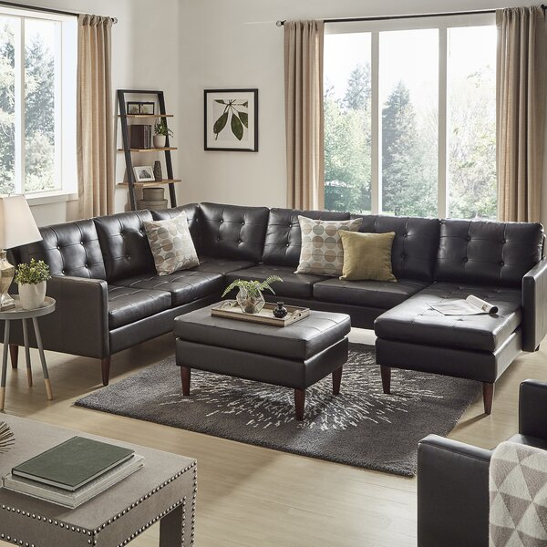Atlas Reversible Sectional With Ottoman By Kingstown Home