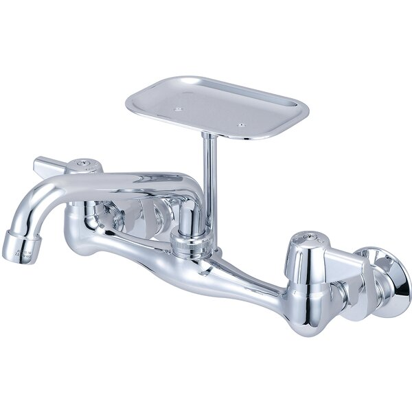 Double Handle Kitchen Faucet with Soap Dish by Central Brass
