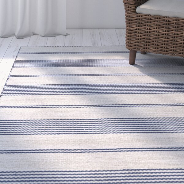 Alicea Hand-Woven Navy Area Rug by Three Posts