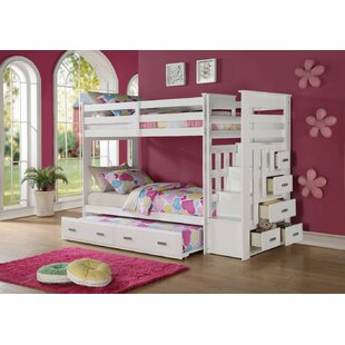 Glane Wooden Twin Over Bunk Bed With Trundle