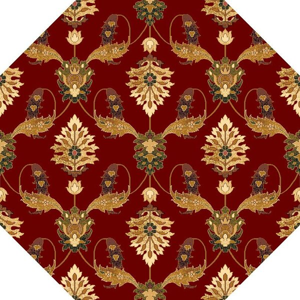 Greenfield Red Area Rug by Charlton Home