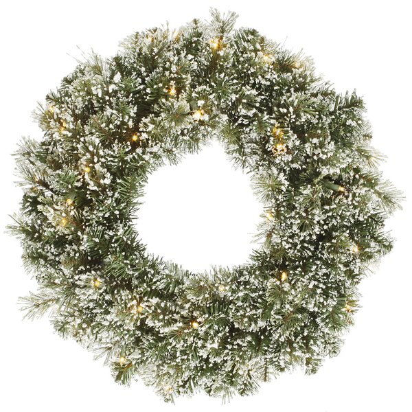 24 Artificial Frosted Cashmere Pine Christmas Wreath by Vickerman