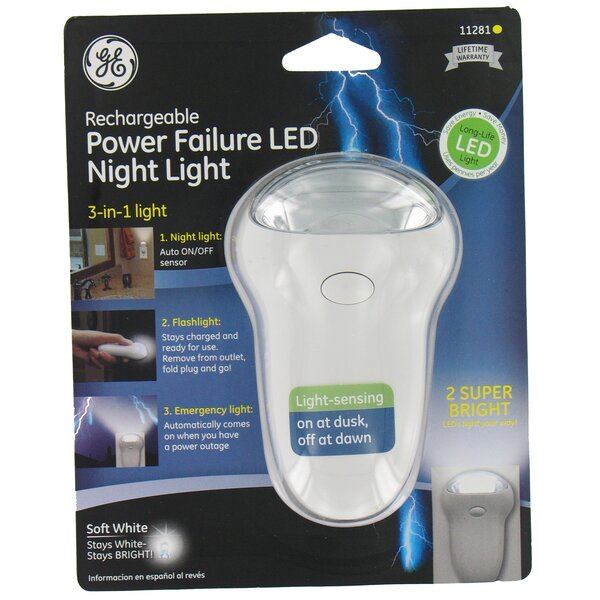 3 in 1 Rechargeable Power Failure LED Night Light by Jasco