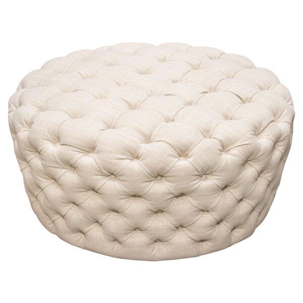 Posh Round Tufted Pouf by Diamond Sofa