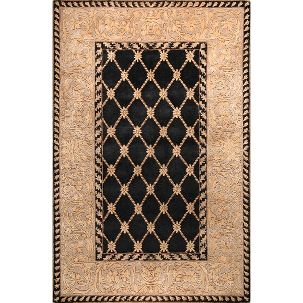 Versailles Ganges Black Rug by Bashian Rugs