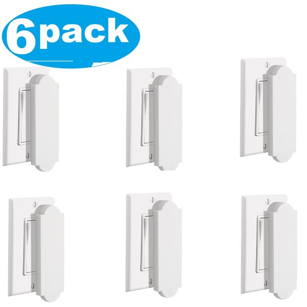 Magnetic Outlet Cover Light Switch (Set of 6) by YBM Home