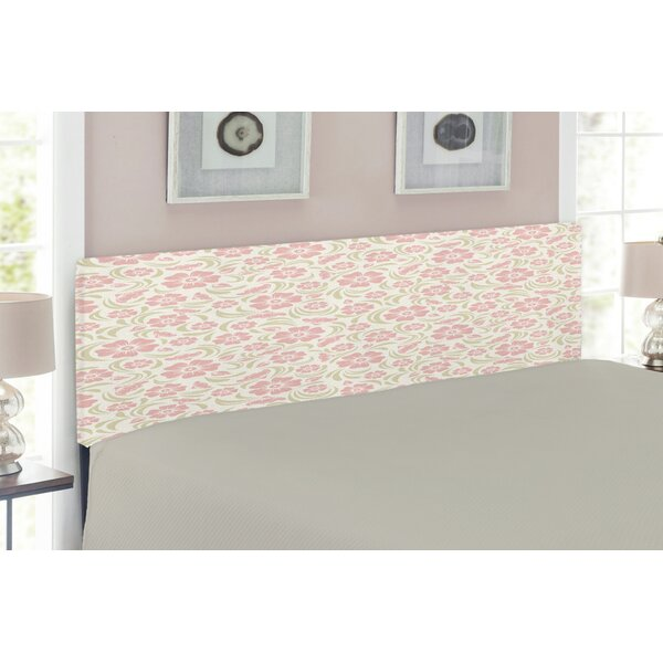Flower Upholstered Panel Headboard by East Urban Home East Urban Home