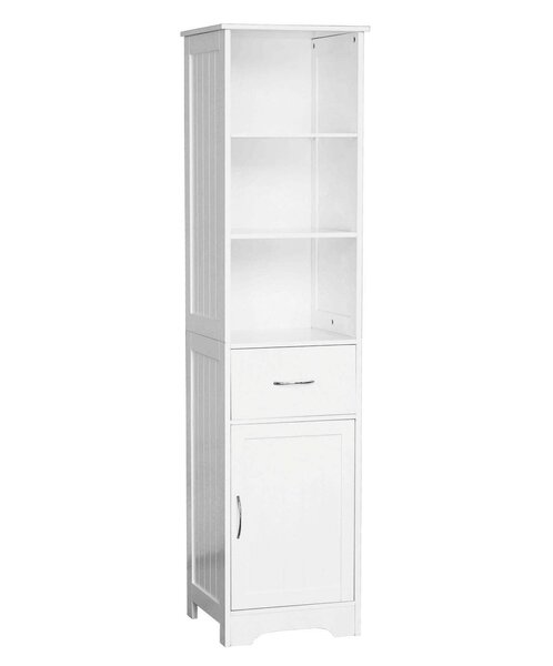 All Home 40 x 160cm Free Standing Tall Bathroom Cabinet & Reviews ...