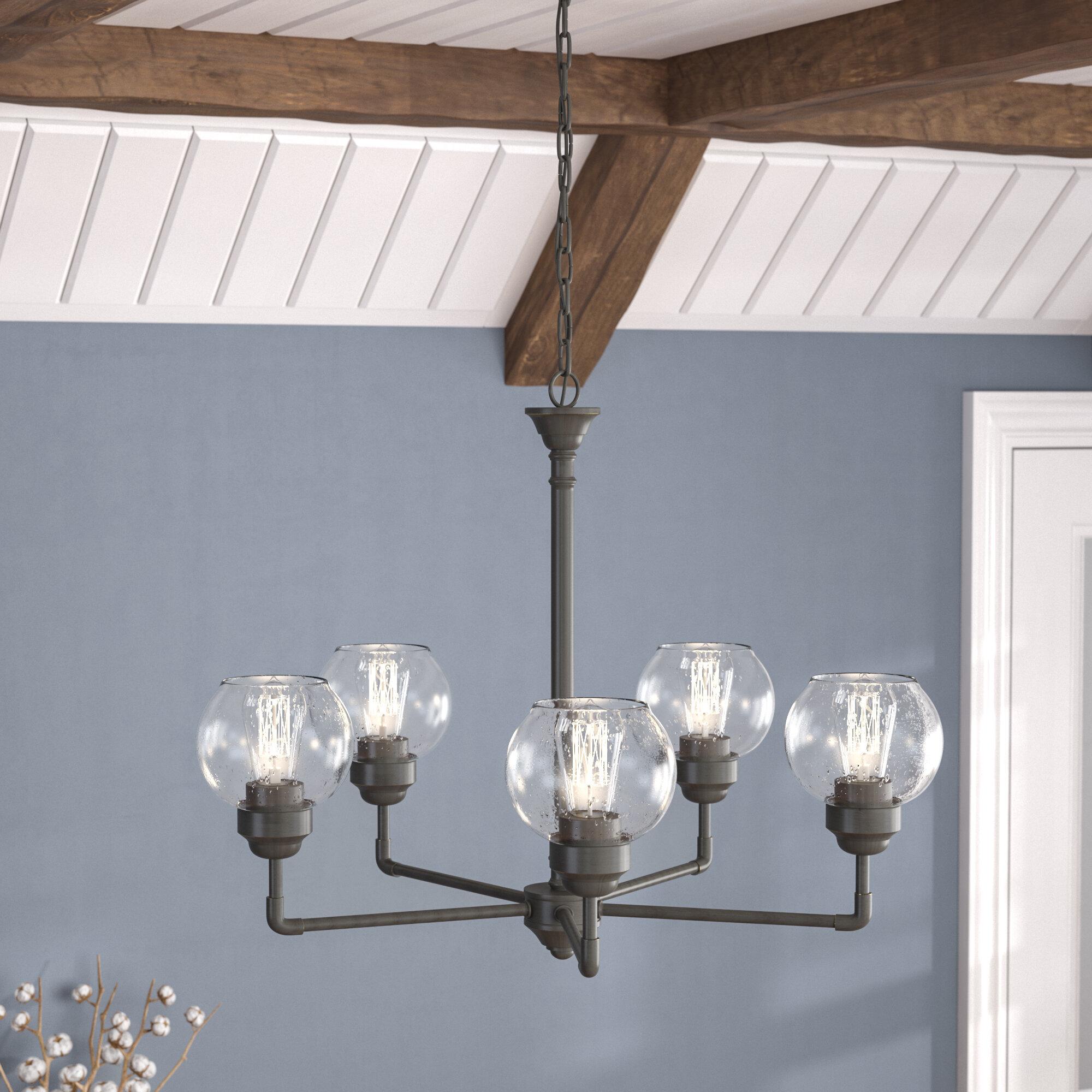 Laurel Foundry Modern Farmhouse Killdeer 5-Light Shaded Chandelier ...