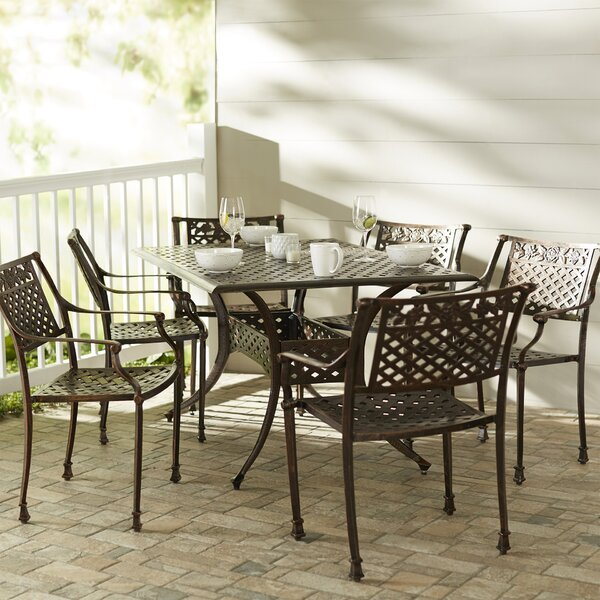 Trystan 7 Piece Dining Set by World Menagerie
