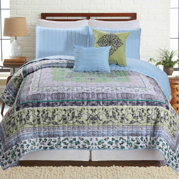 5 Piece Reversible Quilt Set by Allure