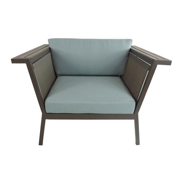 Marina Geo Club Patio Chair with Cushions by Brayden Studio Brayden Studio