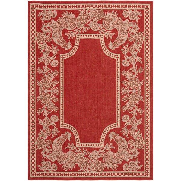 Laurel Red/Natural Indoor/Outdoor Rug by August Grove
