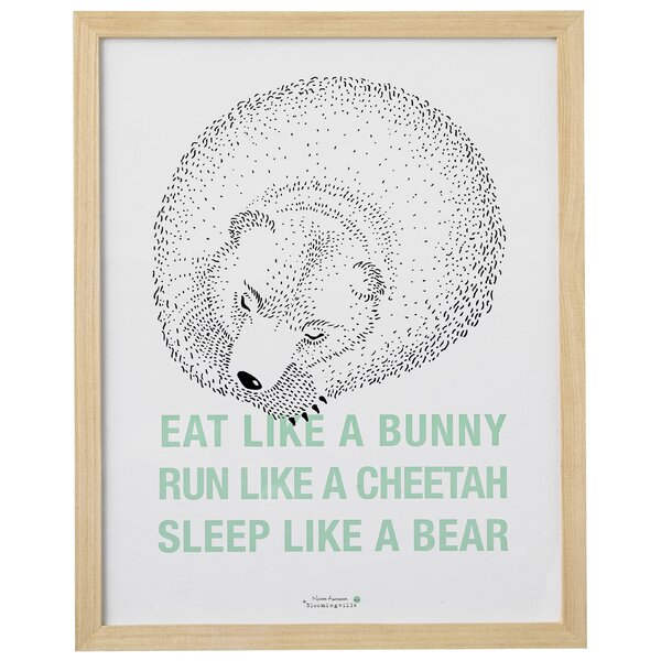 Reed Eat…Run…Sleep… Framed Art by Viv + Rae