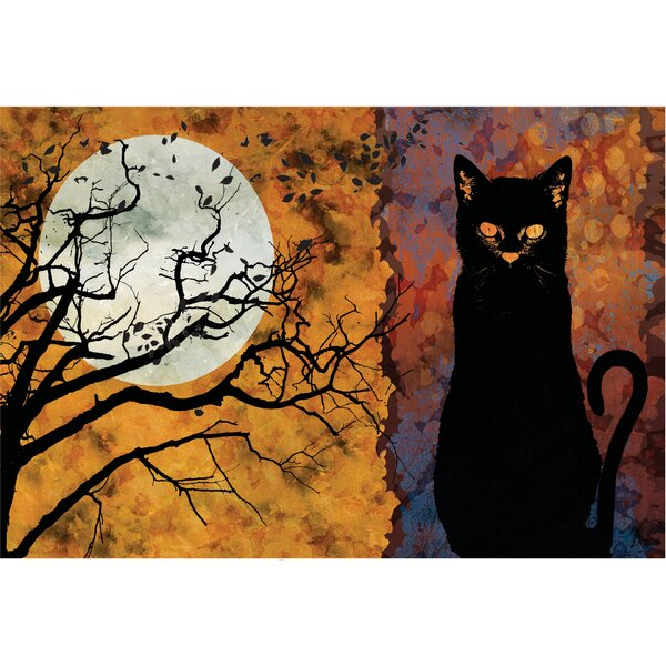 Cat and Moon Doormat by The Holiday Aisle