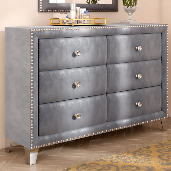 Spence 6 Drawer Double Dresser by Rosdorf Park