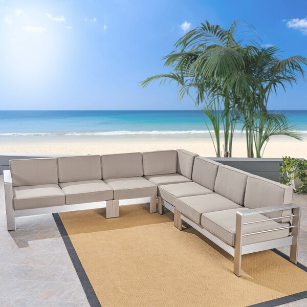 Royalston Patio Sectional with Cushions by Brayden Studio