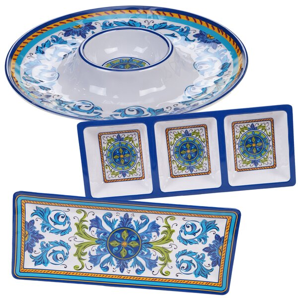Filion 3 Piece Melamine Divided Serving Dish Set by Charlton Home