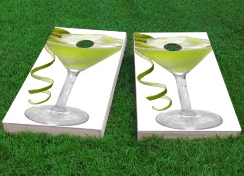 Margarita Glass Cornhole Game (Set of 2) by Custom Cornhole Boards