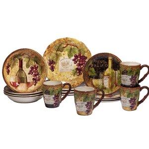 Aldergrove 16 Piece Dinnerware Set, Service for 4