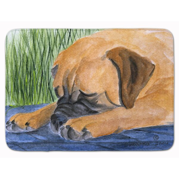Bullmastiff Memory Foam Bath Rug by East Urban Home