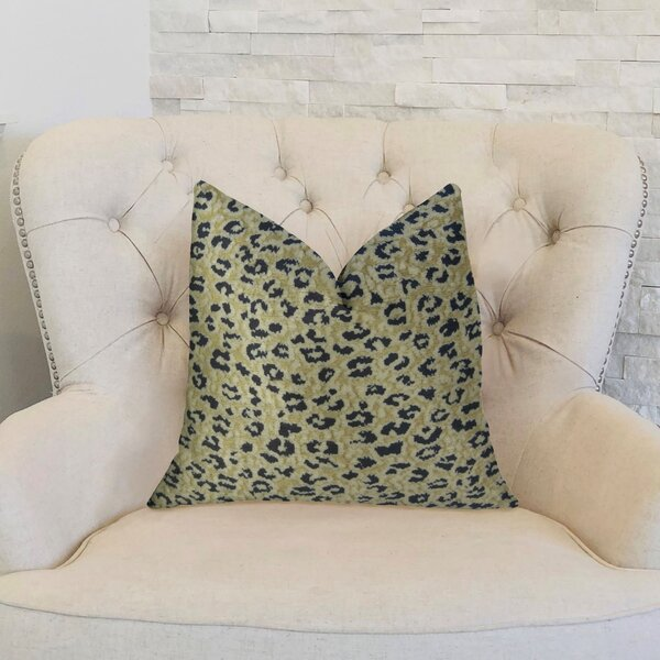 Soft Cheetah Handmade Outdoor Throw Pillow by Plutus Brands