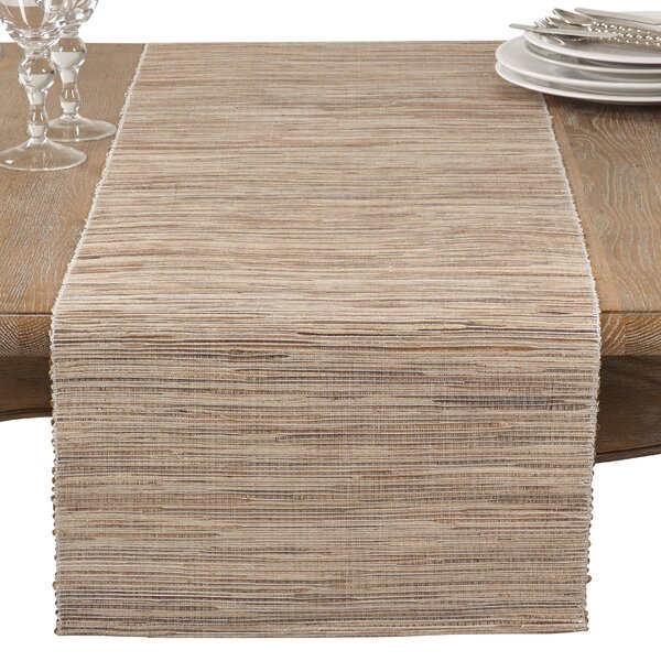Bevis Shimmering Woven Nubby Natural Water Hyacinth Table Runner by Union Rustic