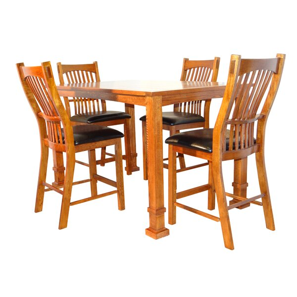 Lagunitas 5 Piece Counter Height Solid Wood Dining Set by Darby Home Co