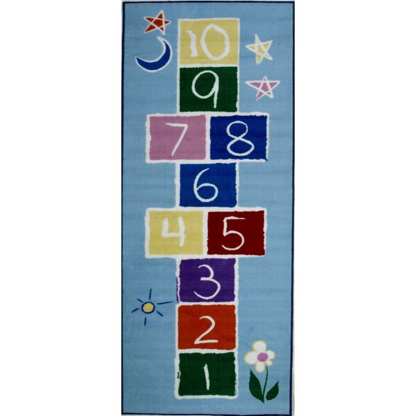 Fun Time Primary Hopscotch Kids Rug by Fun Rugs