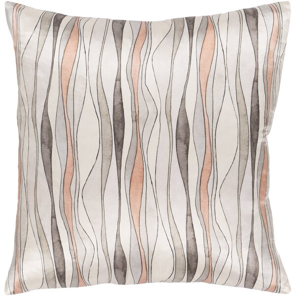 Natural Affinity Modern Silk Throw Pillow by Surya