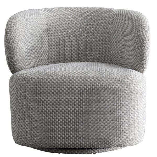 Noho Bleeker Swivel Barrel Chair by Pasargad