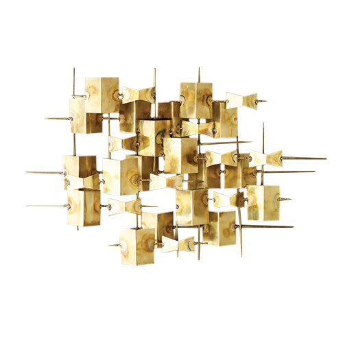 DwellStudio Folded Brass Wall Décor & Reviews | DwellStudio