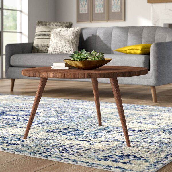 Review Allegro Solid Wood 3 Legs Coffee Table