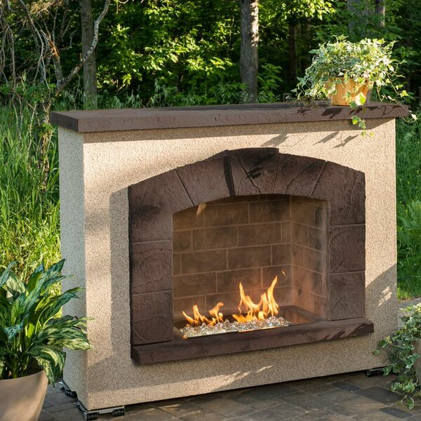 Stone Arch Concrete Propane Outdoor Fireplace by The Outdoor GreatRoom Company