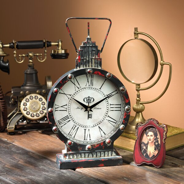 Gotham Steampunk Metal Table Clock by Design Toscano