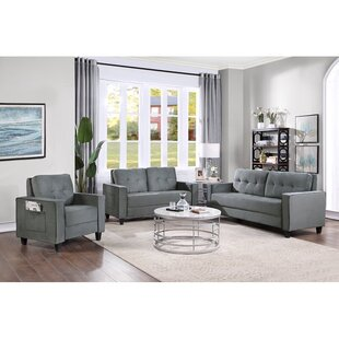 Latitude Run® 3 Piece Velvet Living Room Set by Latitude Run®