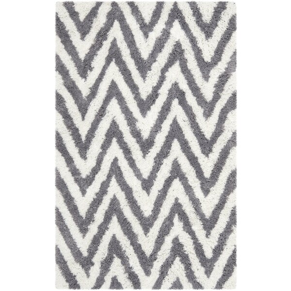 Haupt Gray/White Area Rug by Mercury Row