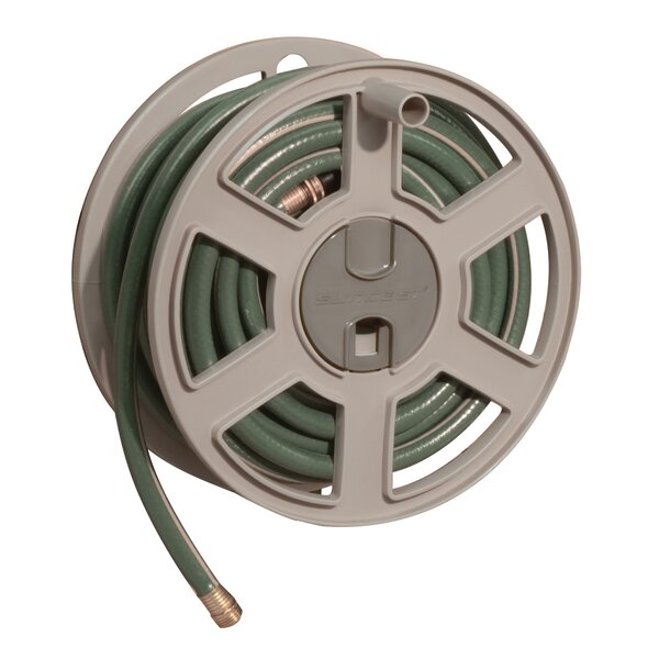 Plastic Wall-Mounted Hose Reel by Suncast