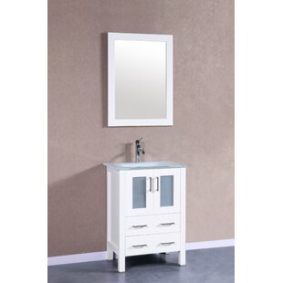 Nevitt 24 Single Bathroom Vanity Set with Mirror ByEbern Designs