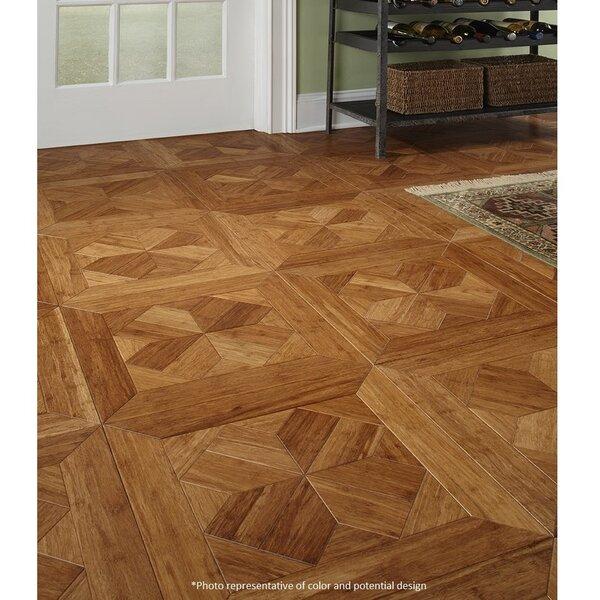 15.75 Engineered Bamboo Wood Parquet Hardwood Flooring in Gothic by Islander Flooring