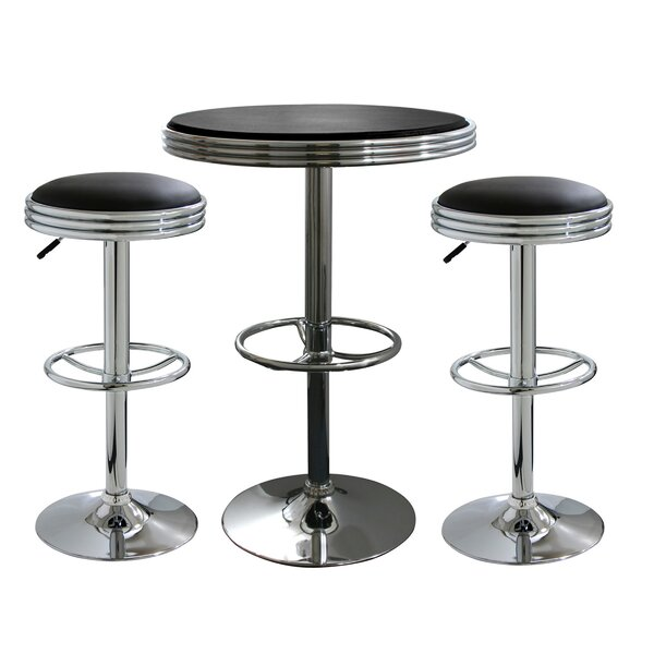 Amazing 3 Piece Soda Fountain Style Pub Set By Buffalo Tools Today Sale Only