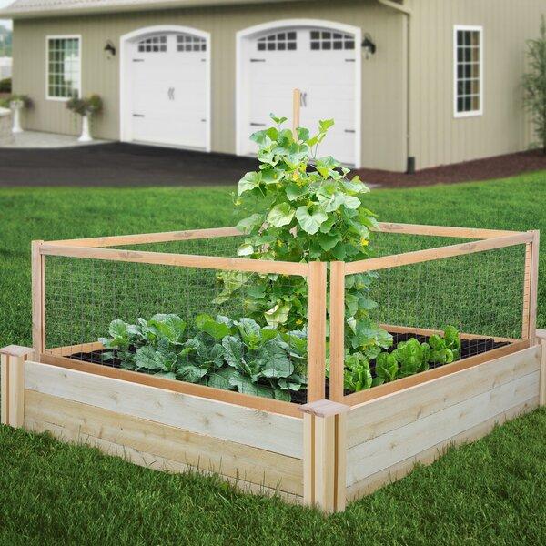 4 ft x 4 ft Cedar Raised Garden by Greenes Fence