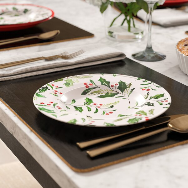Holly Melamine Salad Plate (Set of 6) by The Holiday Aisle