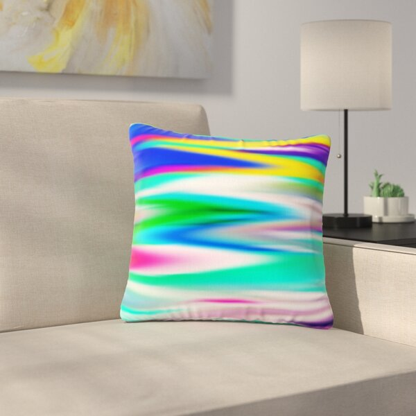 Dawid Roc Lively Atmosphere Abstract Outdoor Throw Pillow by East Urban Home