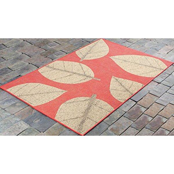 Otega Leaves Red/Beige Indoor/Outdoor Area Rug