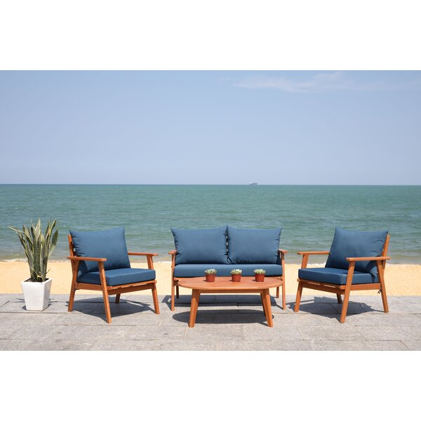 Sotomayor Living 4 Piece Sofa Seating Group with Cushions by Highland Dunes