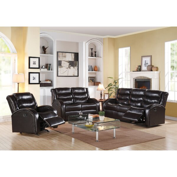 Tinnin Reclining Motion 3 Piece Living Room Set by Latitude Run